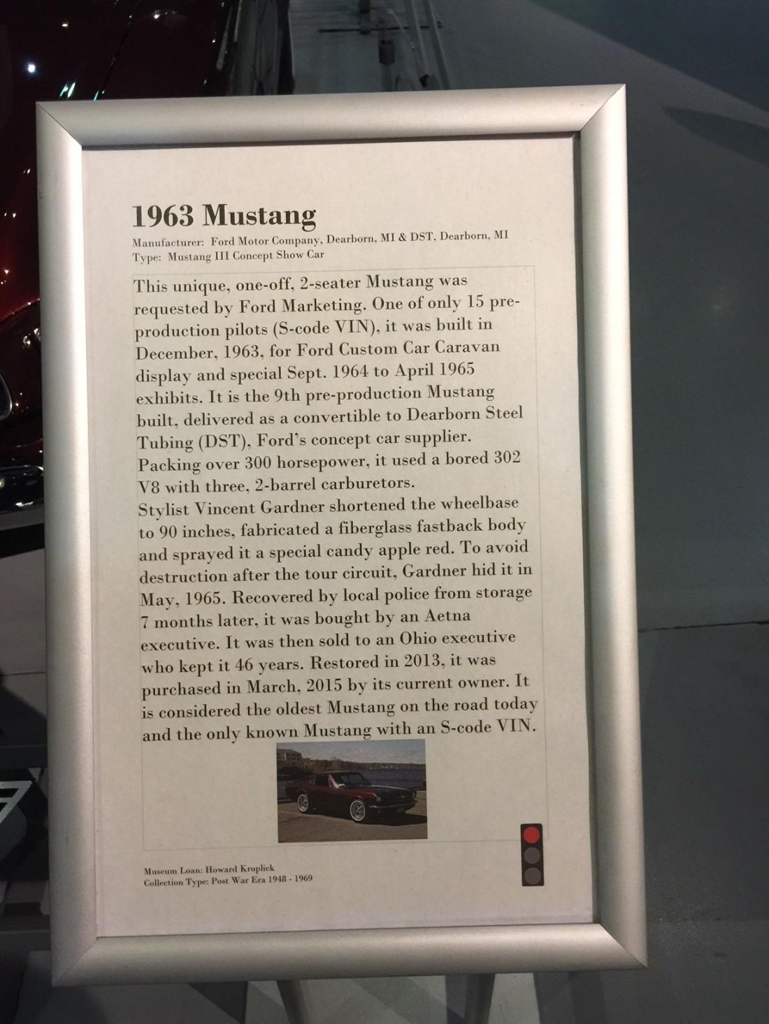 1963 Mustang Text